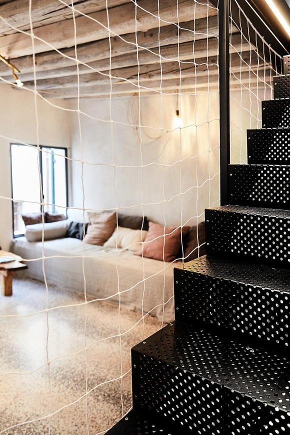 Perforated staircase designed by Love Enqvist. Created by Venecian artisian Pierino