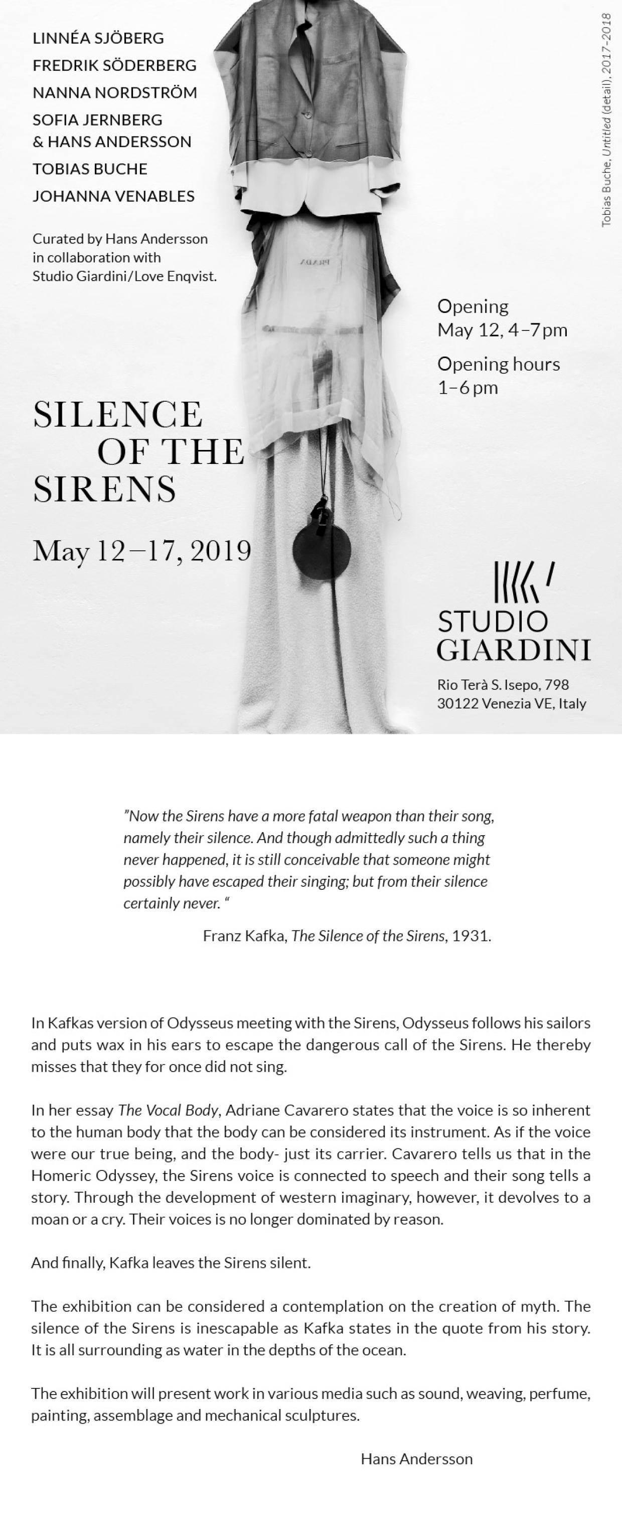 Contemporary art exhibition at Giardini Projects at Studio Giardini in Venice